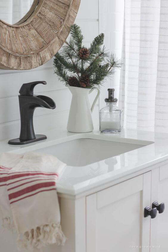 baños navideños decoración