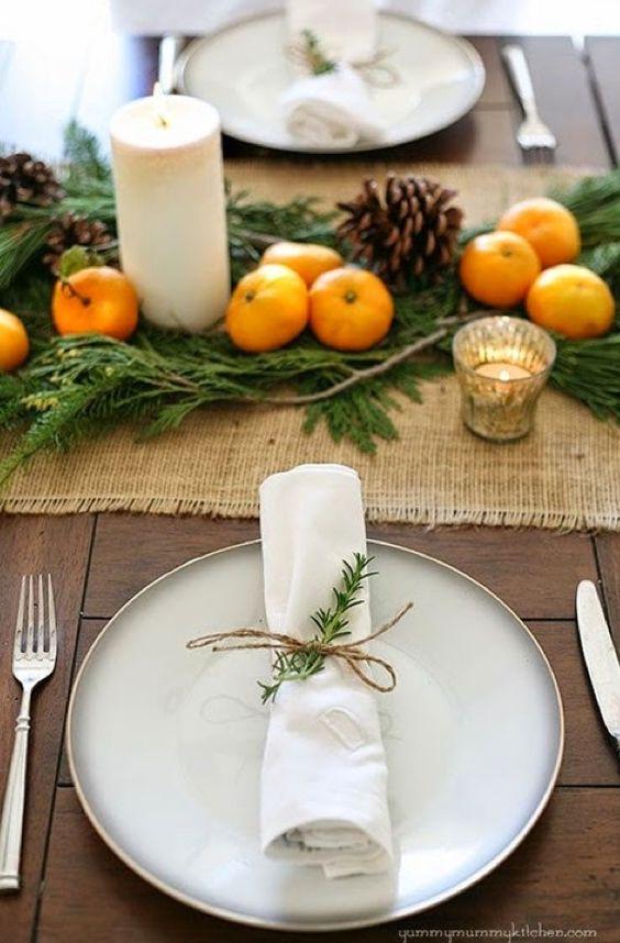decorar mesas en Navidad servilletas