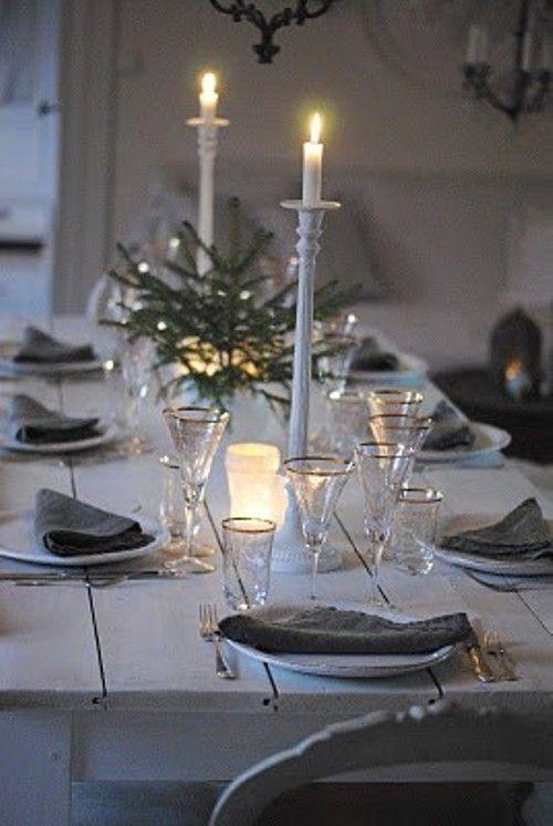 decorar las mesas en Navidad