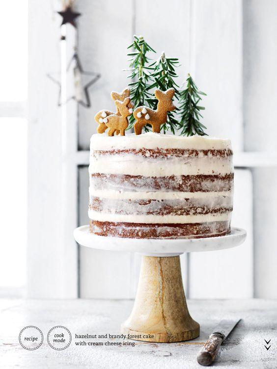 detalle navideño en la tarta