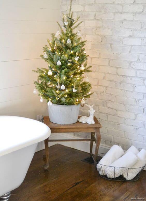baños navideños con abeto