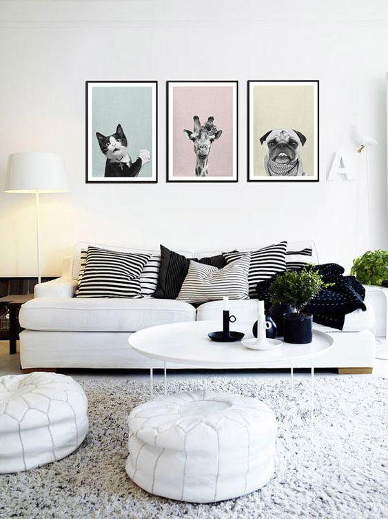 blanco sobre blanco en el sofá
