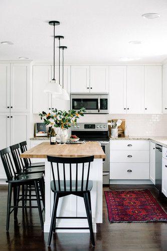 blanco sobre blanco en la cocina