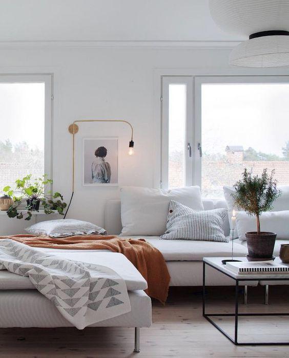 blanco sobre blanco en sofás