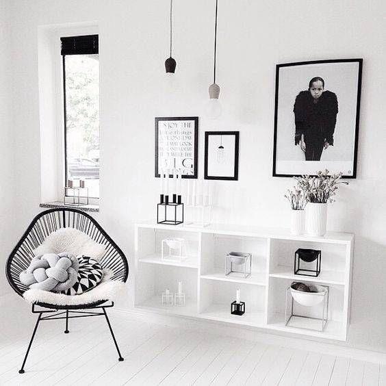 blanco sobre blanco en el salón