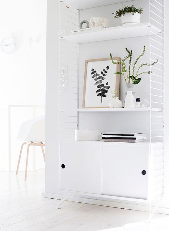 blanco sobre blanco en muebles