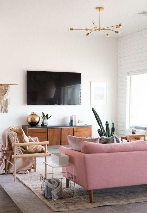 decorar mueble nórdico con televisor