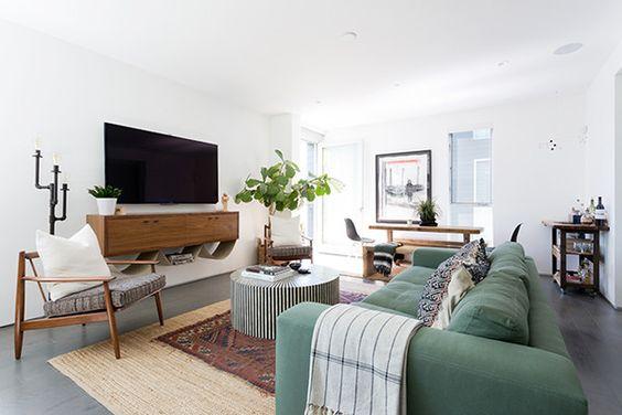 decorar mueble de televisión