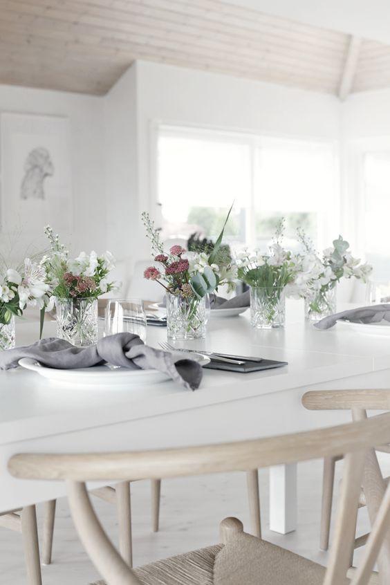 decorar con flores la mesa
