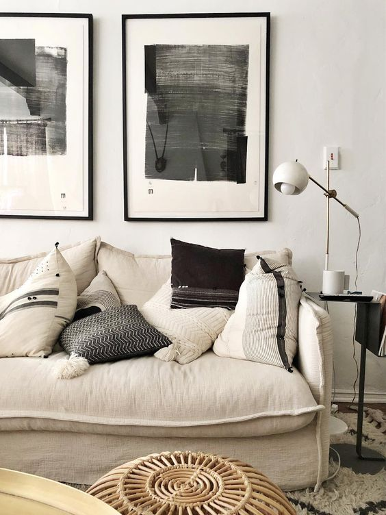 decorar en tonos neutros y negro