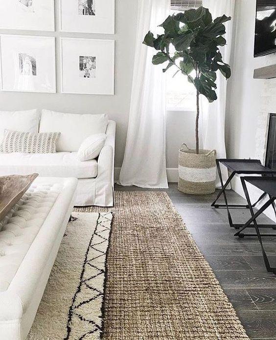 decorar en tonos neutros alfombras