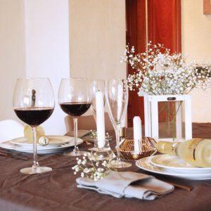 mesa de san valentin sencilla