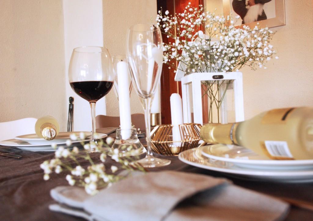 mesa de san valentín romántica y rápida