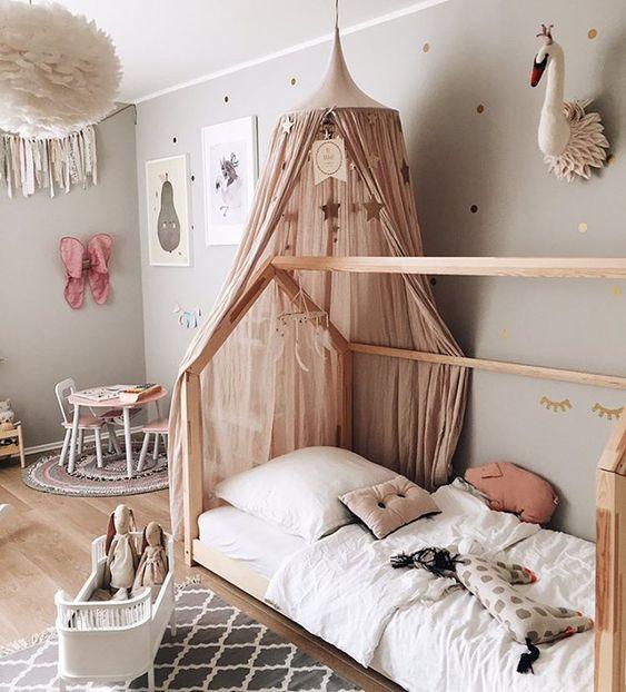 tendencias nórdicas en dormitorios infantiles colores empolvados