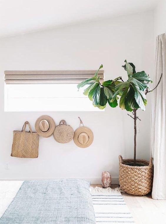 decorar las paredes con fibras naturales