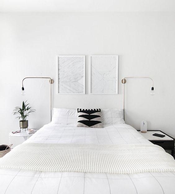 dormitorio nórdico blanco