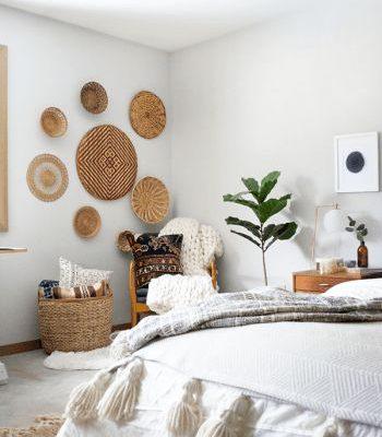 fibras naturales en la pared