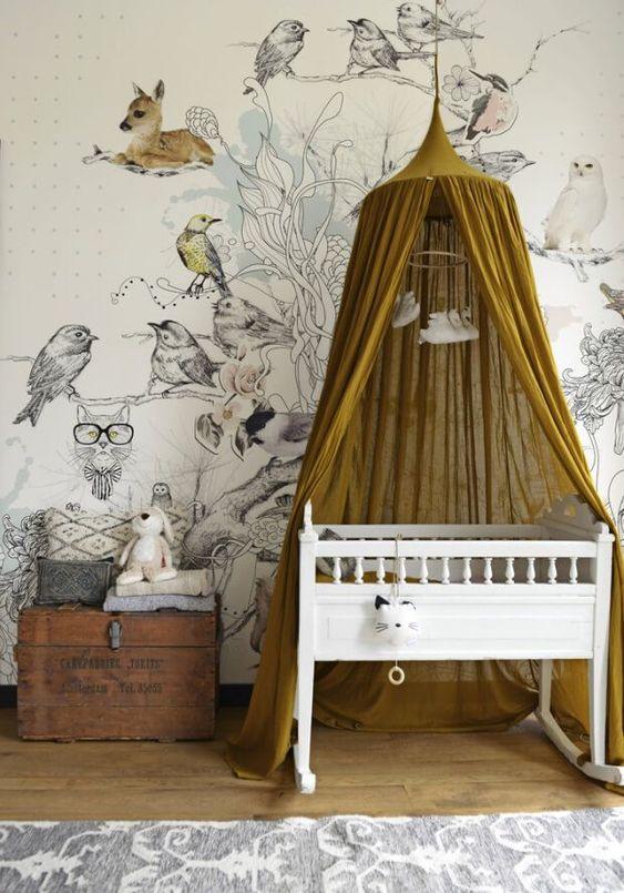 tendencias nordicas en dormitorios infantiles doseles