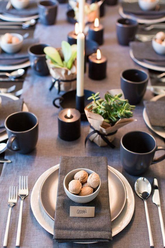 decoración mesa día del padre