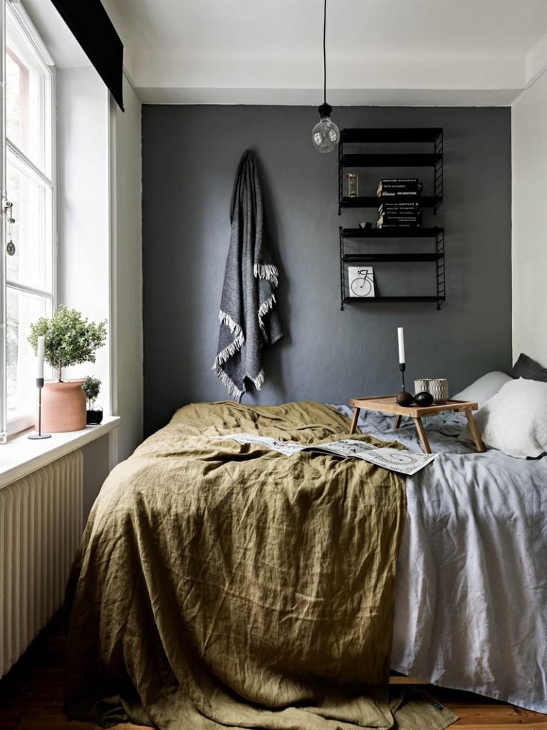 decorar un dormitorio nórdico texturas