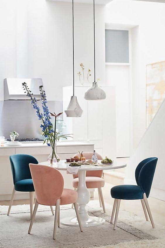 reglas de decoración altura de sillas