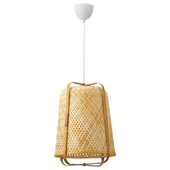 Lámpara de bambú KNIXHULT de Ikea