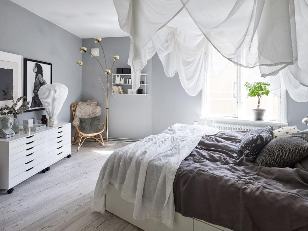 Home tour nórdico en tonos neutros dormitorio