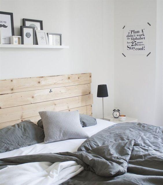 cabeceros en dormitorios nórdicos