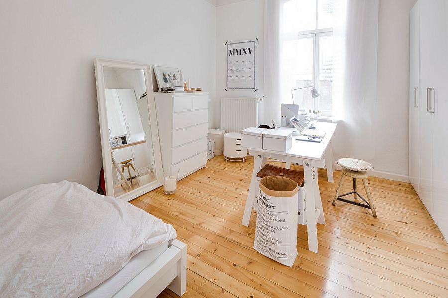 zona de trabajo en el dormitorio