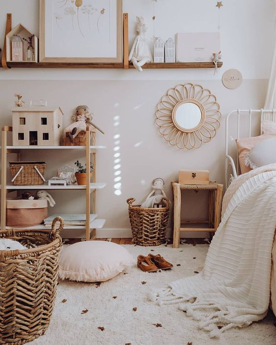 dormitorios infantiles en tonos tostados