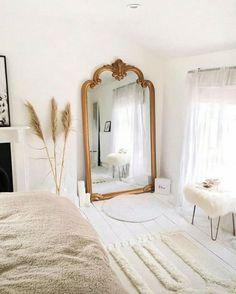 decorar con un espejo vintage