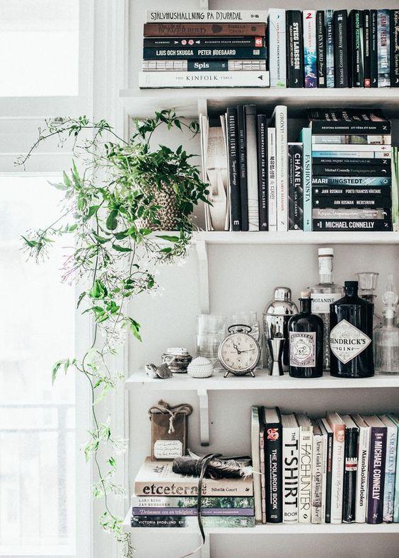 decorar tus estanterías de libros