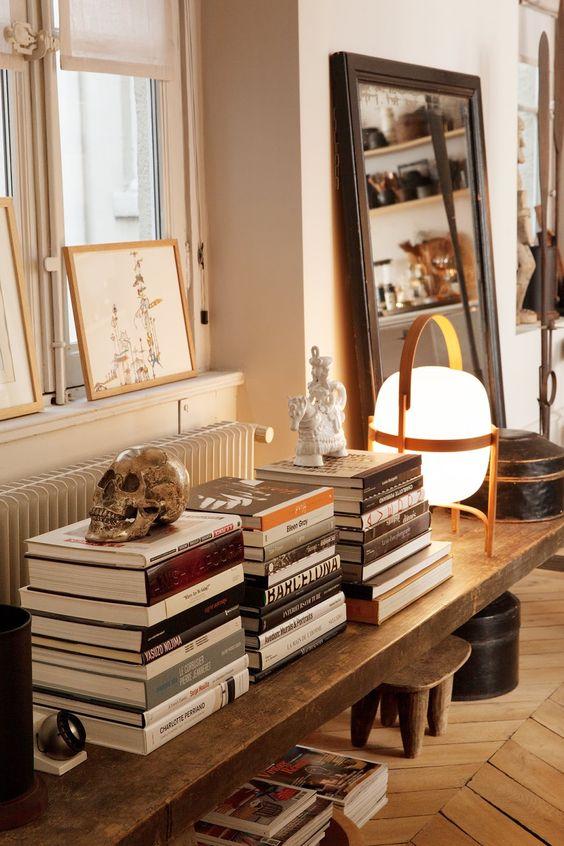 decorar estanterías de libros