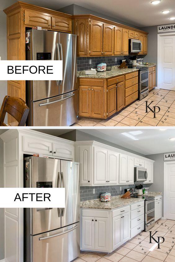 antes y después de cocinas