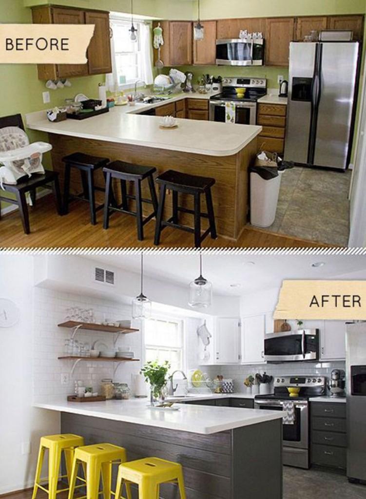 Antes y después cocinas