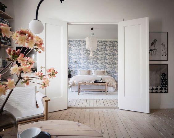 paredes con papel pintado